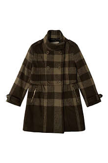 BURBERRY Check wool coat 4-14 years