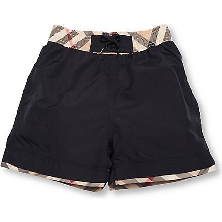 BURBERRY Swimming shorts 4–14 years (Black