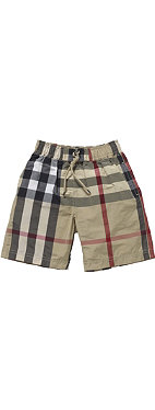 BURBERRY Checked swim shorts 4-14 years