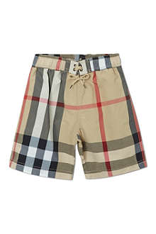 BURBERRY Nova check swim shorts 4-14 years