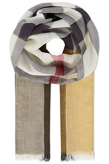 BURBERRY Nova checked sheer scarf