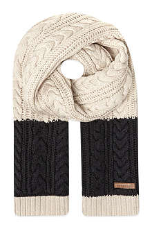 BURBERRY Angora cable knit scarf