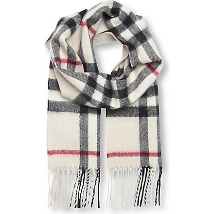 BURBERRY Cashmere checked scarf (Nova