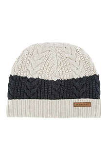 BURBERRY Stripe knitted beanie