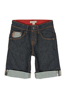 BURBERRY Turn-up denim shorts 4-14 years