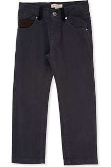 BURBERRY Twill contrast belt loop trousers 4-14 years