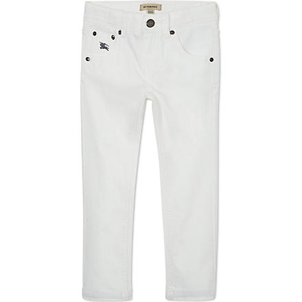 BURBERRY Skinny jeans 4-14 years (White