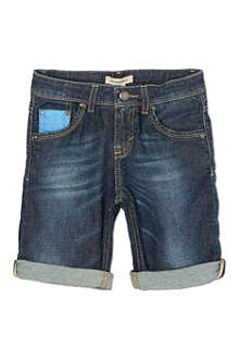BURBERRY Denim turned-up shorts 4-14 years