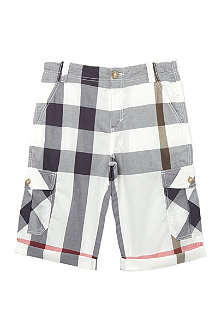 BURBERRY Exploded check combat shorts 4-14 years