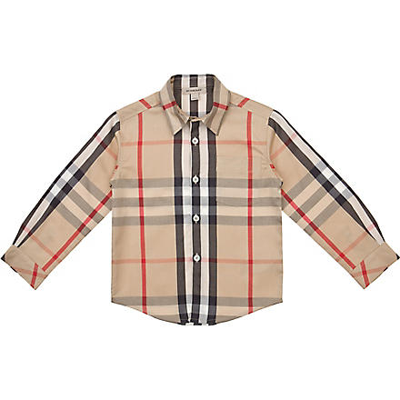 BURBERRY Checked shirt 4-14 years (Nova
