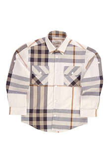 BURBERRY Check long-sleeve shirt 4-14 years
