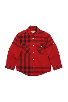 BURBERRY Checked roll-up shirt 4-14 years