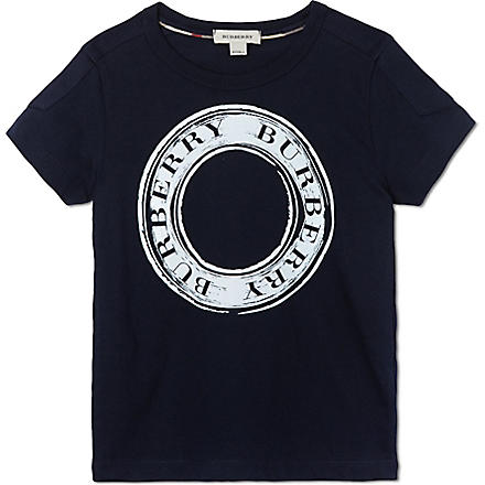 BURBERRY Circle logo t-shirt 4-14 years (Navy