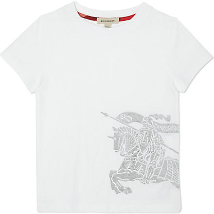 BURBERRY Side logo t-shirt 4-14 years (White