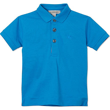 BURBERRY Pique polo shirt 4-14 years (Blue