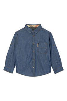 BURBERRY Buttoned denim shirt 4-14 years
