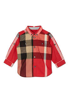 BURBERRY Poplin checked shirt 4-14 years