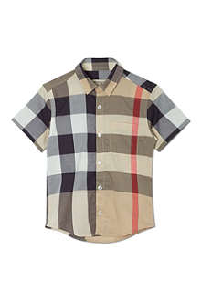 BURBERRY Exploded check short sleeved shirt 4-14 years