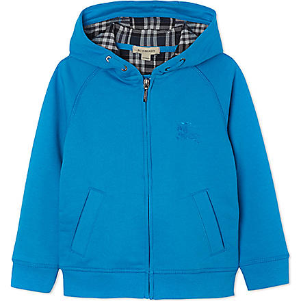 BURBERRY Zipped hooded jacket 4-14 years (Blue