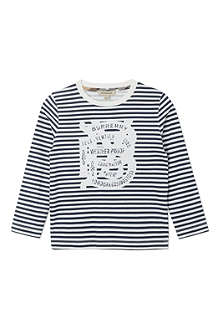 BURBERRY Striped cotton t-shirt 4-14 years
