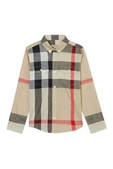BURBERRY Classic checked shirt 4-14 years