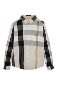 BURBERRY Mega check shirt 4-14 years