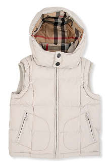 BURBERRY Hooded padded gilet 4-14 years
