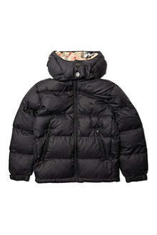 BURBERRY Hooded quilted jacket 4-14 years