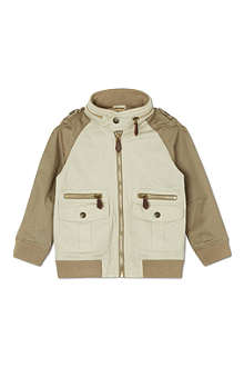 BURBERRY Contrast sleeve jacket 4-14 years
