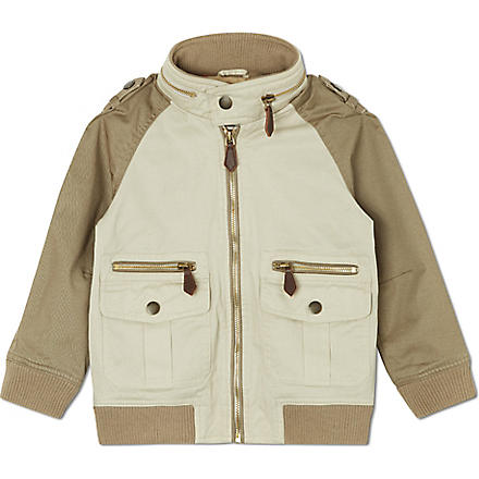 BURBERRY Contrast sleeve jacket 4-14 years (Trench