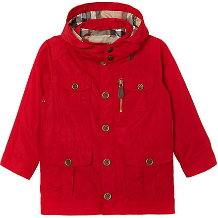 BURBERRY Parka hooded jacket 4-14 years (Red
