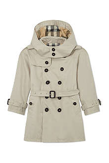 BURBERRY Double-breasted trench coat 4-14 years