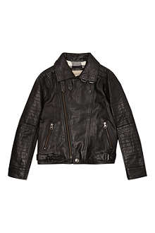 BURBERRY Leather biker jacket 4-14 years