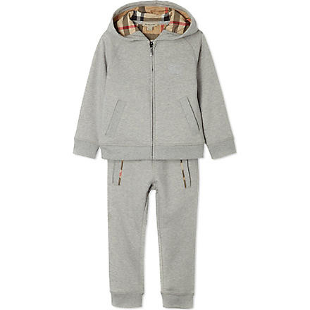 BURBERRY Hooded tracksuit set 4-14 years (Grey