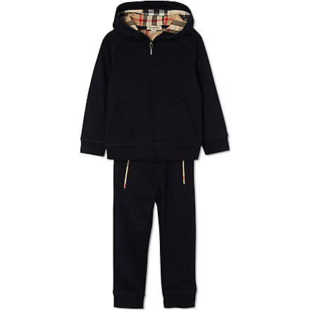 BURBERRY Hooded tracksuit set 4-14 years (Navy