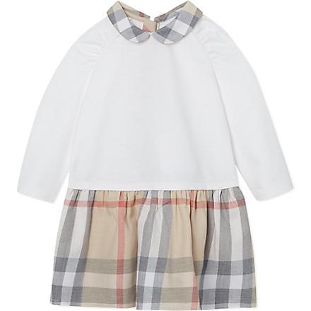 BURBERRY Nova print dress 1-18 months (White