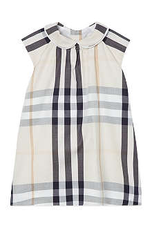 BURBERRY Expoded check cap sleeve dress 1-18 months