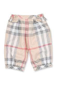 BURBERRY Classic Nova check frill leggings 1-18 months