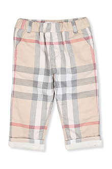 BURBERRY Classic Nova check trousers 1-18 months