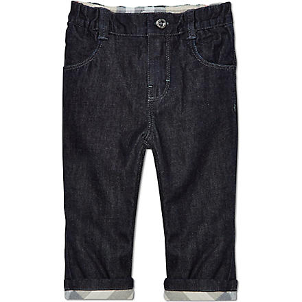 BURBERRY Turn-up jeans 1-9 months (Blue