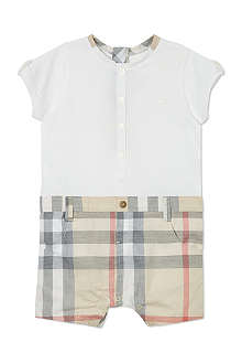 BURBERRY Nova check all-in-one 1-9 months