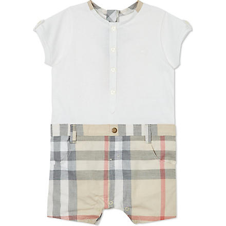 BURBERRY Nova check all-in-one 1-9 months (White