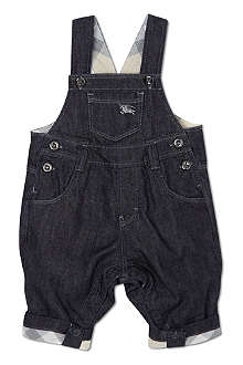 BURBERRY Denim dunagrees 1-9 months