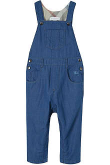BURBERRY Padded denim dugarees 1-18 months
