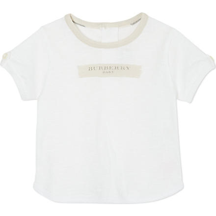BURBERRY Paint logo t-shirt 1-9months (White
