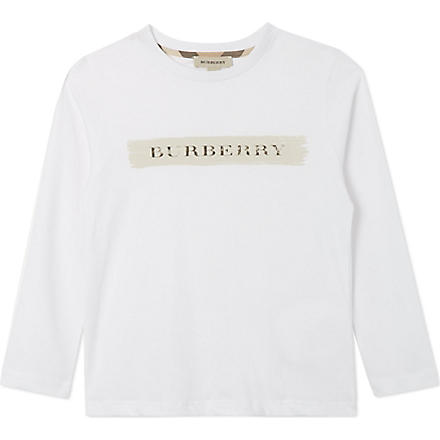 BURBERRY Logo long-sleeved top 4-14 years (White