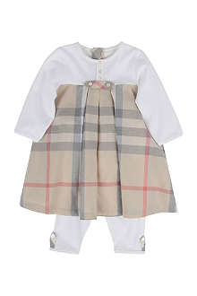 BURBERRY Dress and leggings set 1-9 months