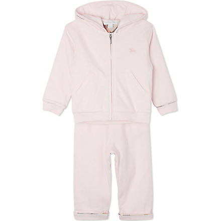 BURBERRY Hooded tracksuit set 1-18 months (Pink