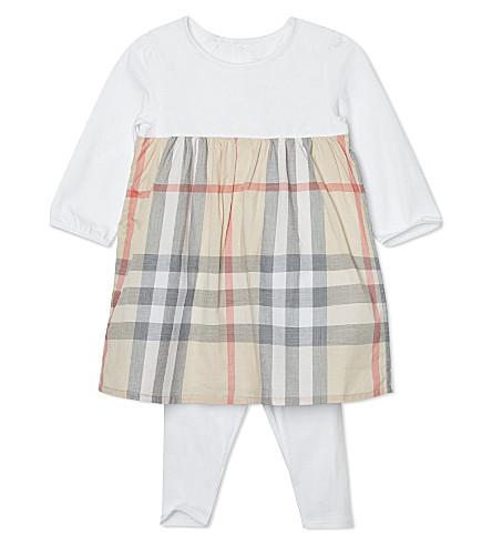 BURBERRY Nova dress with leggings 1-18 months (White