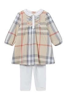 BURBERRY Nova check dress and leggings set 1-18 months